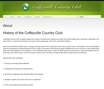 Coffeyville Country Club Preview